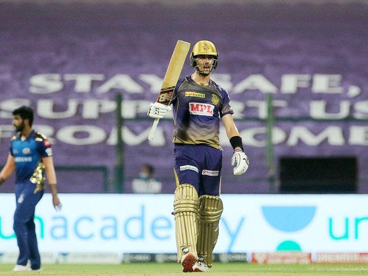 कमिंस ने आईपीएल में अपनी पहली फिफ्टी लगाई। वे 36 बॉल पर 53 रन बनाकर नॉटआउट रहे।