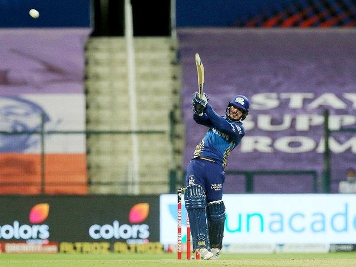 मुंबई इंडियंस के ओपनर क्विंटन डिकॉक ने आईपीएल में अपनी 13वीं फिफ्टी लगाई और 78 रन बनाकर नॉट आउट रहे।