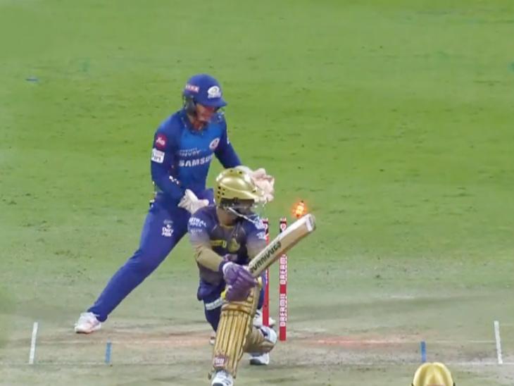 अपनी बैटिंग पर फोकस करने के लिए केकेआर की कप्तानी छोड़ने वाले दिनेश कार्तिक 8 बॉल पर 4 रन बनाकर आउट हुए।