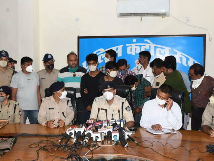 पुलिस ने आरोपियों को पकड़ने के लिए 10 टीमें लगाई थीं।