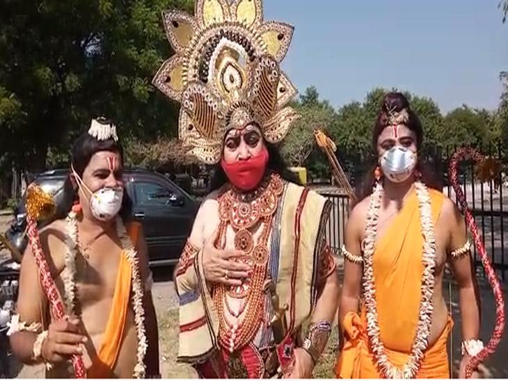 शहर के रामलीला कलाकारों ने कहा लोगों को जागरूक किया