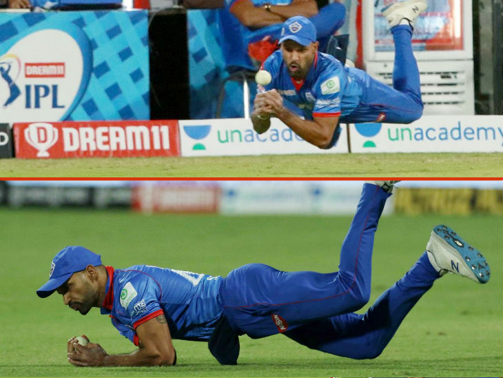 Dhawan took a brilliant catch of Faf du Plessis in the match. In-form du Plessis was dismissed for 58 runs.