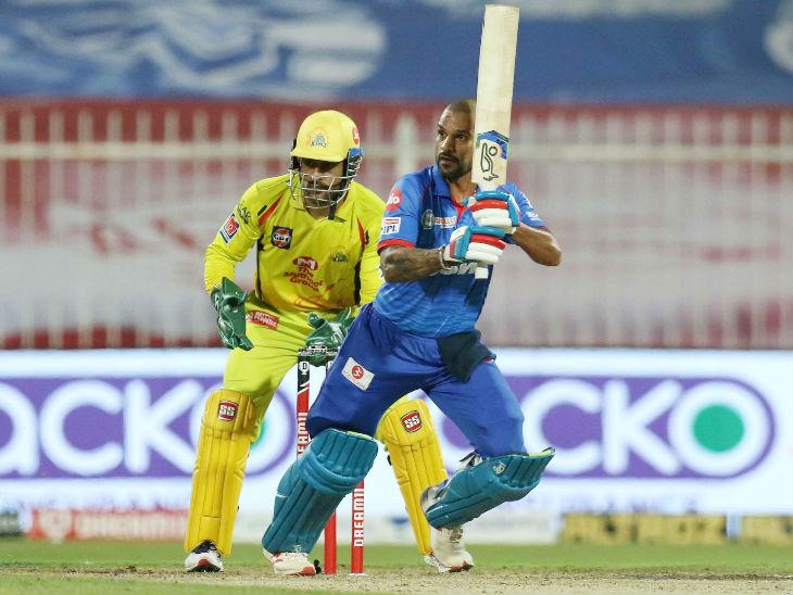 Delhi opener Shikhar Dhawan hit an unbeaten 101 off 58 balls.