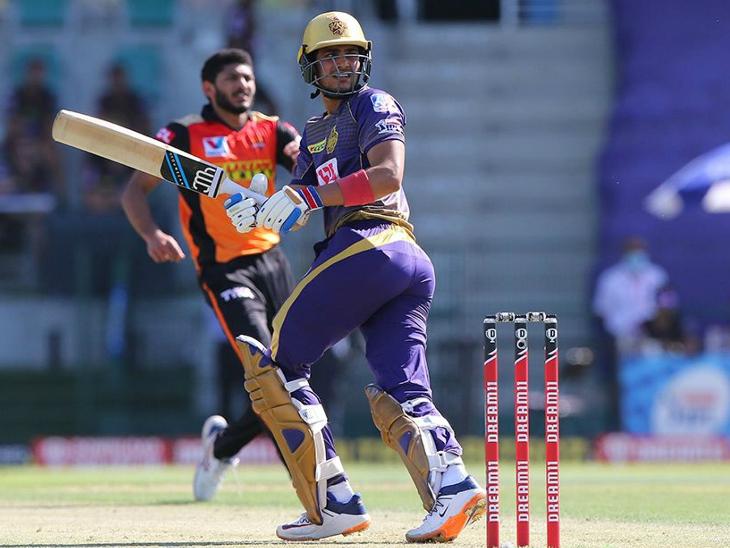 कोलकाता नाइट राइडर्स के ओपनर शुभमन गिल ने संभलकर खेलते हुए 36 रन की पारी खेली।