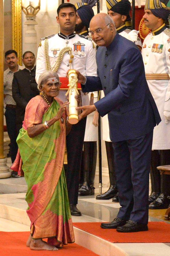 थिमक्का के अद्भुत योगदान के लिए भारत सरकार ने उन्हें इस वर्ष पद्मश्री अवार्ड से सम्मानित किया।