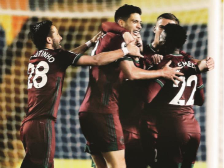 जीत के साथ वोल्व्स के 5 मैचों में 9 अंक हो गए हैं। क्लब प्रीमियर लीग टेबल में 6वें स्थान पर है। - Dainik Bhaskar