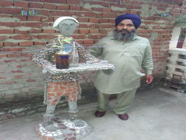लाॅकडाउन में पहचानी अपने अंदर छिपी प्रतिभा; पेशे से ड्राइवर बलजिंदर सिंह ने पद्मश्री नेकचंद से प्रेरित हो बनाई हुबहु मूर्तियां चंडीगढ़,Chandigarh - Dainik Bhaskar