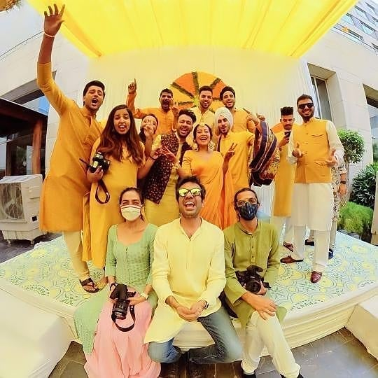 Neha - Rohan Preet's family is enjoying the yellow show.