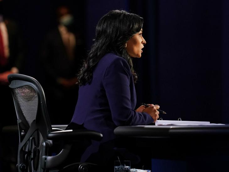 नेश्विले में हुई तीसरी और आखिरी फाइनल डिबेट को एनबीसी की व्हाइट हाउस संवाददाता क्रिस्टीन वेकर ने मॉडरेट किया। वो शांत और संयमित नजर आईं। उनके काम की तारीफ भी हो रही है।