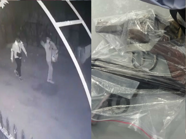 The accused were captured in CCTV cameras roaming the area. The police also seized weapons from them.