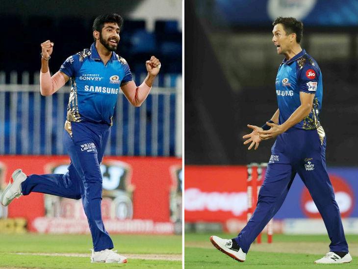 बुमराह-बोल्ट ने चेन्नई का टॉप ऑर्डर तोड़ा; चाहर ने धोनी का विकेट लेकर उम्मीदों पर पानी फेरा|IPL 2020,IPL 2020 - Dainik Bhaskar