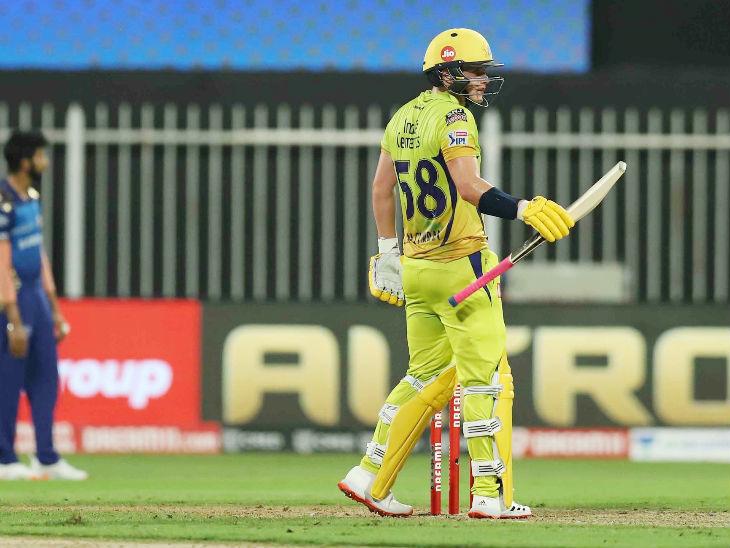 चेन्नई के लिए सैम करन ही रन बना पाए और 47 बॉल पर 52 रन की पारी खेली।