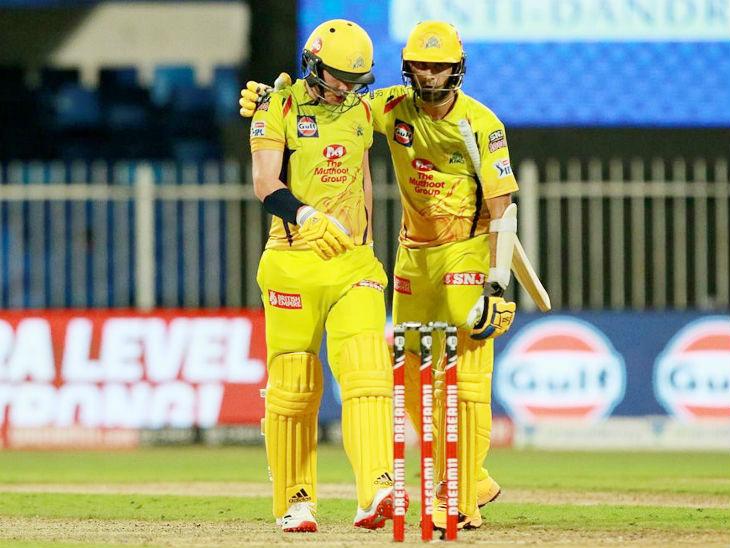 ताहिर ने नौवें विकेट के लिए सैम करन के साथ 43 रन की साझेदारी की। यह आईपीएल में इस विकेट के लिए पार्टनरशिप का रिकॉर्ड है।