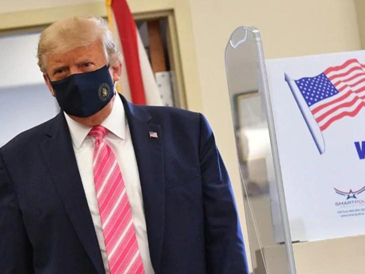 अमेरिका में राष्ट्रपति चुनाव: ट्रम्प ने फ्लोरिडा में वोट किया; मुस्कुराते हुए बोले- मैंने ट्रम्प नाम के व्यक्ति को वोट डाला