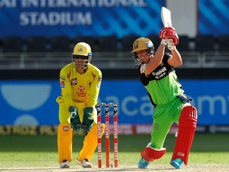आरसीबी के एबी डिविलियर्स ने 36 बॉल पर 39 रन बनाए।