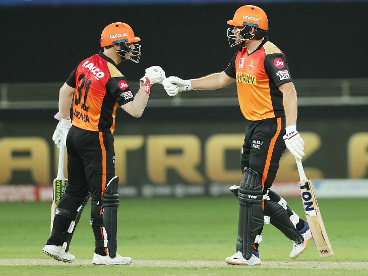 Captain David Warner scored 35 and Johnny Bairstow 19 for Sunrisers Hyderabad.
