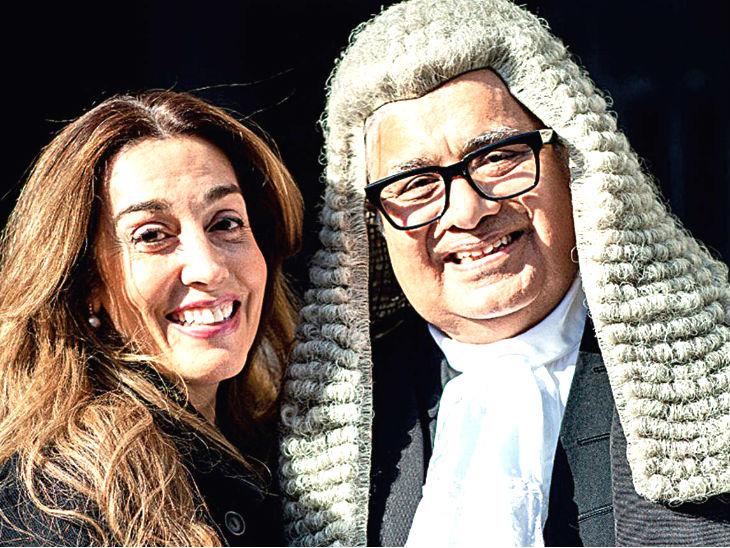 हरीश साल्वे की होने वाली हमसफर कैरोलिन ब्रोसार्डलंदन में रहती हैं और पेशे से आर्टिस्ट हैं। दोनों 28 अक्टूबर को चर्च में शादी करेंगे। - फाइल फोटो - Dainik Bhaskar