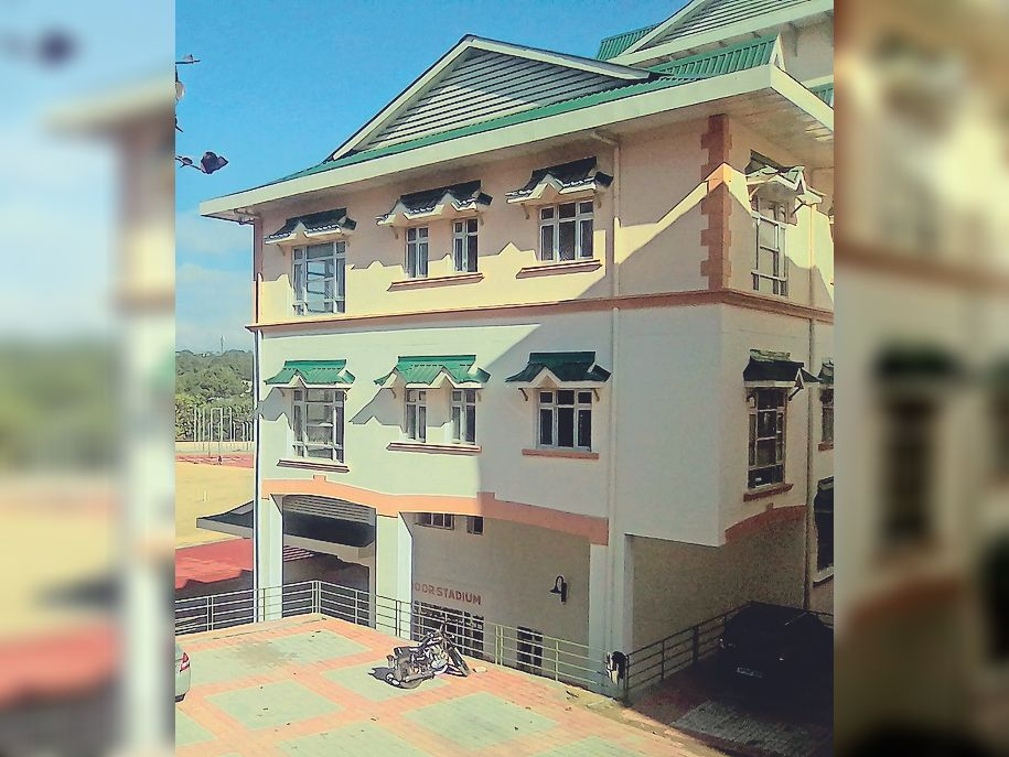 पीजी कॉलेज हमीरपुर में नवनिर्मित इनडोर स्टेडियम। - Dainik Bhaskar