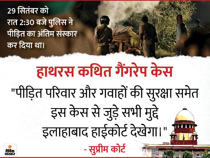 सुप्रीम कोर्ट ने कहा- CBI जांच की निगरानी इलाहाबाद हाईकोर्ट करेगा, केस दिल्ली ट्रांसफर करने पर बाद में विचार करेंगे|आगरा,Agra - Dainik Bhaskar