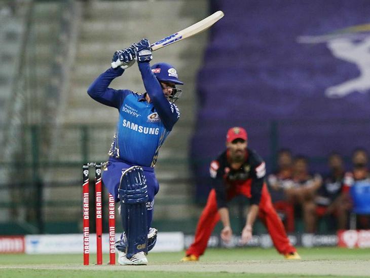 मुंबई की अच्छी शुरुआत, डिकॉक-किशन क्रीज पर; बेंगलुरु ने 165 रन का टारगेट दिया