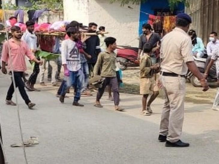 हंगामे के आसार की वजह से अंतिम संस्कार के वक्त पुलिस भी मौजूद रही।