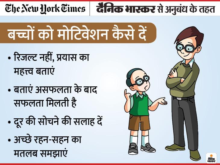 बच्चों पर रिजल्ट का बोझ न डालें, दूर की सोचने को कहें; जानिए मोटिवेशन के क्या फायदे हैं|ज़रुरत की खबर,Zaroorat ki Khabar - Dainik Bhaskar
