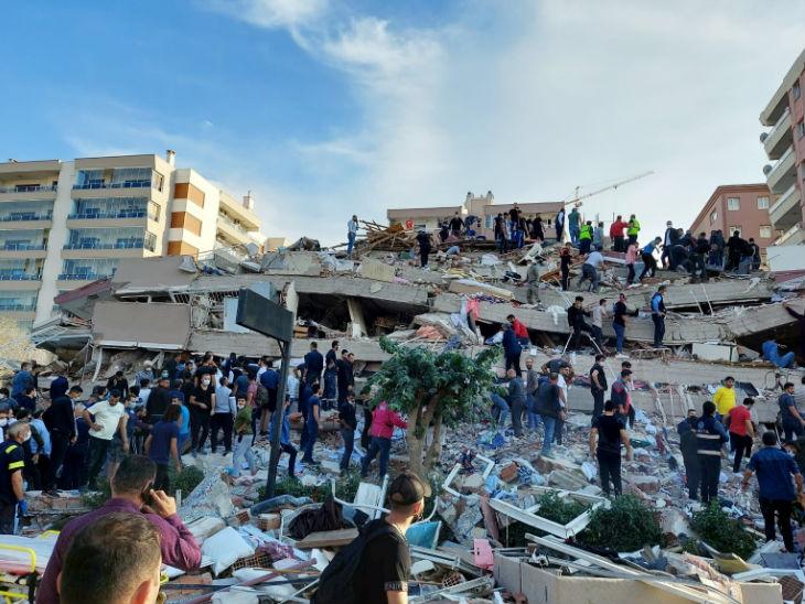 तुर्की में 7 तीव्रता का भूकंप, कई इमारतें गिरीं; 4 लोगों की मौत और 120 घायल