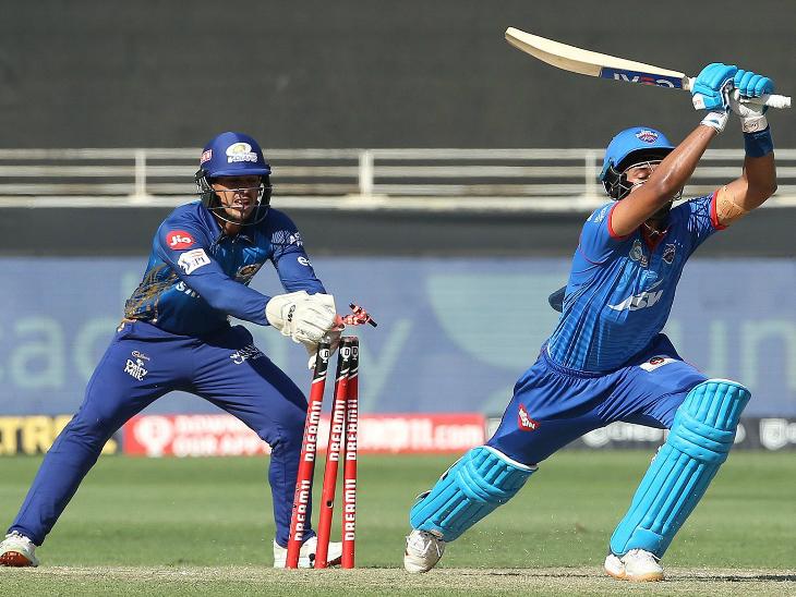 दिल्ली के कप्तान श्रेयस अय्यर 25 रन बनाकर आउट हुए।