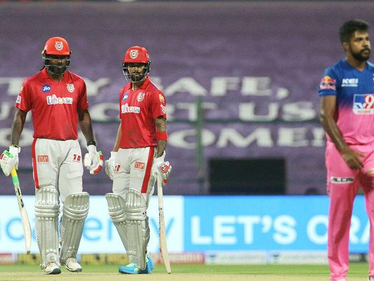 क्रिस गेल और पंजाब के कप्तान लोकेश राहुल ने दूसरे विकेट के लिए 120 रन की पार्टनरशिप की। राहुल 46 रन बनाकर आउट हुए।
