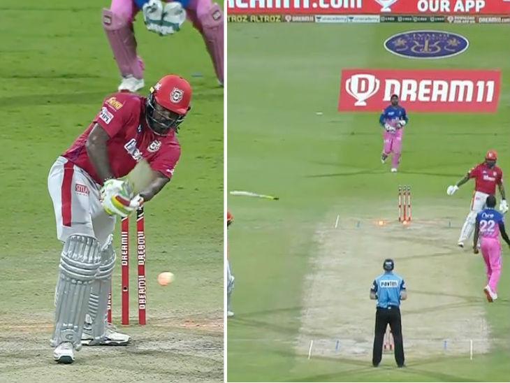 IPL 2020 KXIP vs RR Photo Gallery Chris Gayle Preity Zinta Ben Stokes Jofra Archer Sanju Samson IPL UAE Pictures Updates | गेल 99 रन पर हुए क्लीन बोल्ड, गुस्से में फेंका बल्ला; 5 मैच के बाद मायूस दिखीं प्रिटी जिंटा