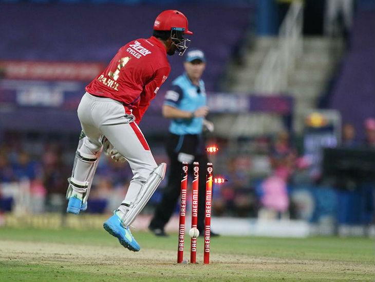 जगदीश सुचित के थ्रो पर विकेटकीपर लोकेश राहुल ने संजू सैमसन को रनआउट किया। सैमसन 25 बॉल पर 48 रन बनाकर आउट हुए।