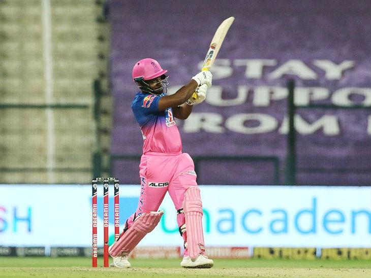 संजू सैमसन ने 48 रन की पारी में 3 छक्के और 4 चौके लगाए। सैमसन ने सीजन में अब तक सबसे ज्यादा 26 छक्के लगाए हैं।