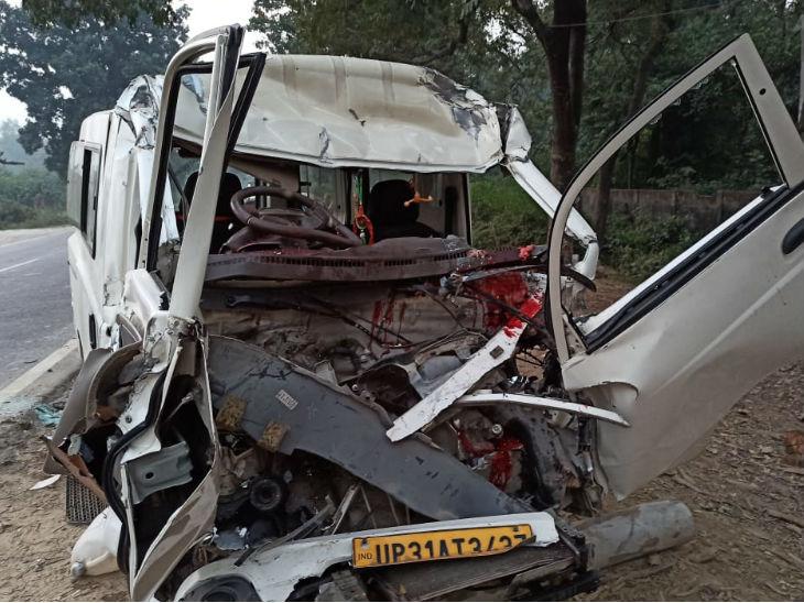 बहराइच में वैन को अज्ञात वाहन ने मारी टक्कर; 8 साल के बच्चे समेत 6 की मौत, 10 घायल उत्तरप्रदेश,Uttar Pradesh - Dainik Bhaskar