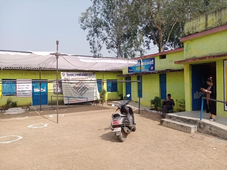 ये फोटो ग्राम पंचायत तेन्दुमुड़ा के ग्राम के कन्हरी के मतदान केंद्र की है। कोरोना संक्रमण से बचने के लिए मतदाताओं को दो-दो मीटर की दूरी पर खड़ा किया जाएगा। इसके लिए मार्किंग की गई है।