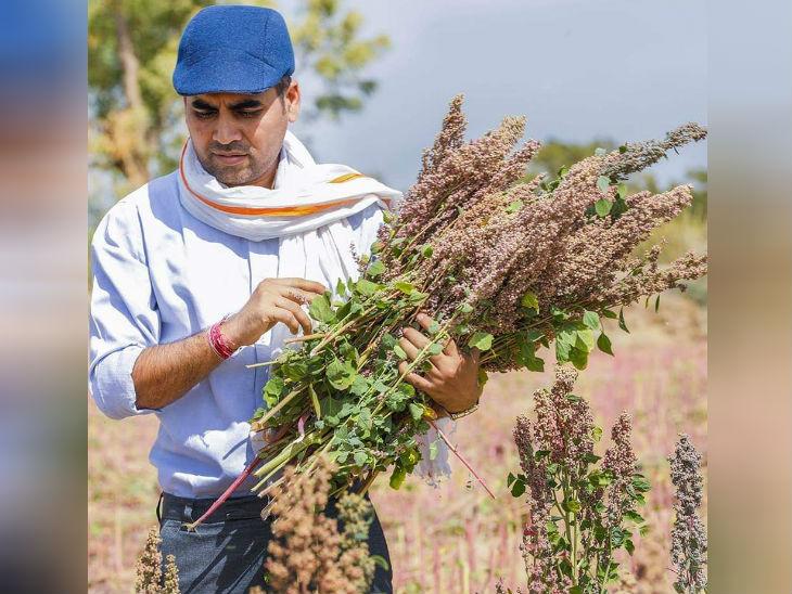 35 साल के योगेश पिछले 10 साल से खेती कर रहे हैं। उन्होंने अपने साथ 3 हजार से ज्यादा किसानों को जोड़ा है।