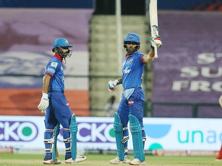 शिखर धवन में IPL में अपनी 40वीं फिफ्टी लगाई। वे लीग में सबसे ज्यादा फिफ्टी लगाने वाले भारतीय बल्लेबाज हैं।