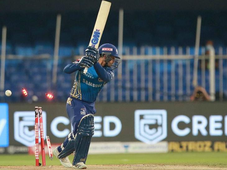 क्विंटन डिकॉक को अच्छा स्टार्ट मिला, लेकिन वह भी बड़ी पारी नहीं खेल पाए और 25 रन बनाकर आउट हुए।