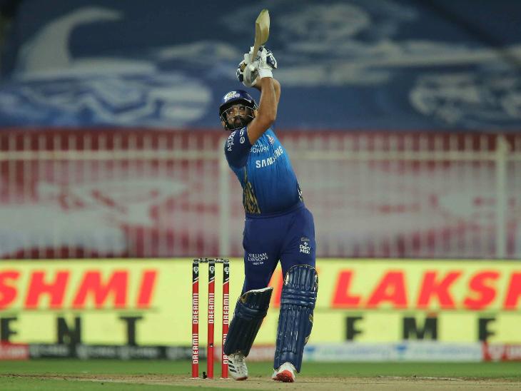 चोट की वजह से 4 मैच के बाद वापसी करने वाले मुंबई के कप्तान रोहित शर्मा सिर्फ 4 रन ही बना सके।