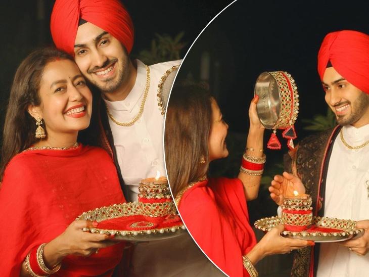 शादी के बाद नेहा कक्कड़ ने रोहन प्रीत के लिए रखा करवा चौथ का व्रत, वायरल हुईं लाल जोड़े में शेयर की गईं तस्वीरें|बॉलीवुड,Bollywood - Dainik Bhaskar