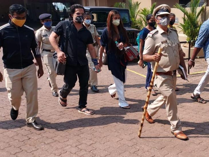 एक्ट्रेस को कानकोना पुलिस ने अगुआड़ा के एक रेसॉर्ट से गिरफ्तार किया गया है। - Dainik Bhaskar