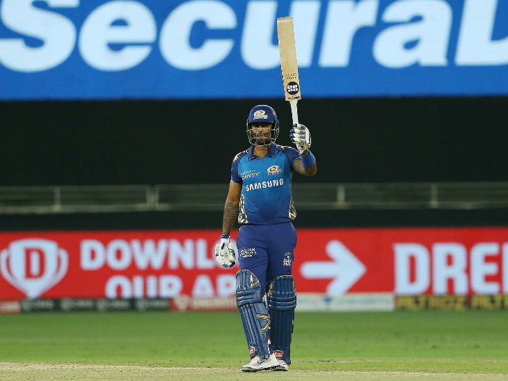 It was Suryakumar Yadav's 100th match in the IPL.  He scored 51 runs in 38 balls.  This is his 11th fifty in the league.