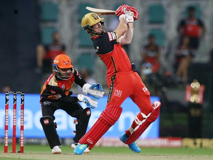 AB de Villiers scored 56 runs off 43 balls.  He is the second foreign player to have the highest number of fifties in the IPL after Warner (48).