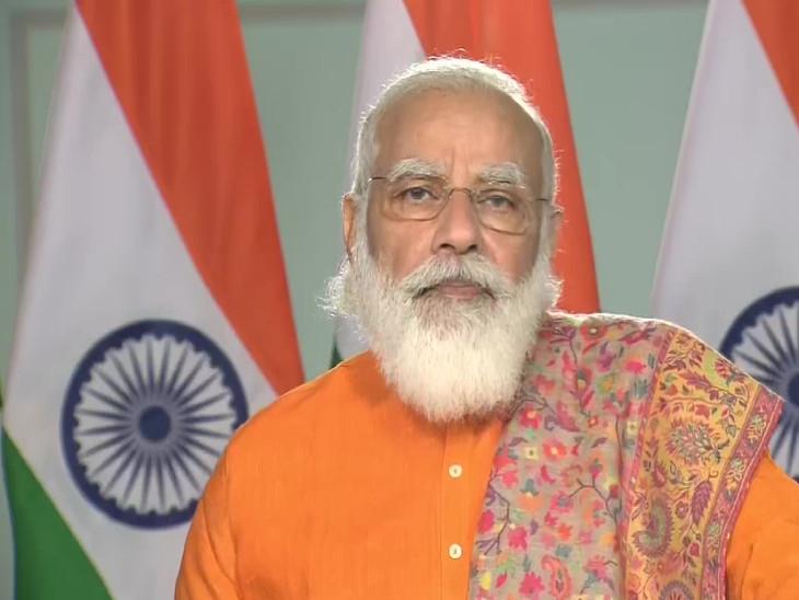 प्रधानमंत्री नरेंद्र मोदी ने रविवार को वीडियो कॉन्फ्रेंसिंग के जरिए गुजरात में हजीरा से घोघा के बीच रो-पैक्स फेरी सेवा की शुरुआत की। - Dainik Bhaskar