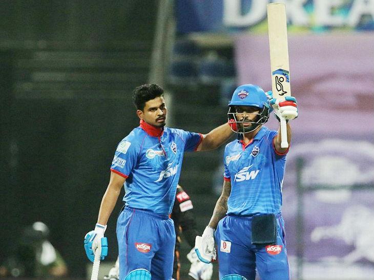 धवन 78 रन की पारी खेली। वे IPL में रिकॉर्ड सबसे ज्यादा 41 फिफ्टी लगाने वाले भारतीय बल्लेबाज बने।