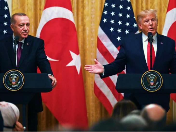 तुर्की के राष्ट्रपति अर्दोआन के साथ डोनाल्ड ट्रम्प। (फाइल)