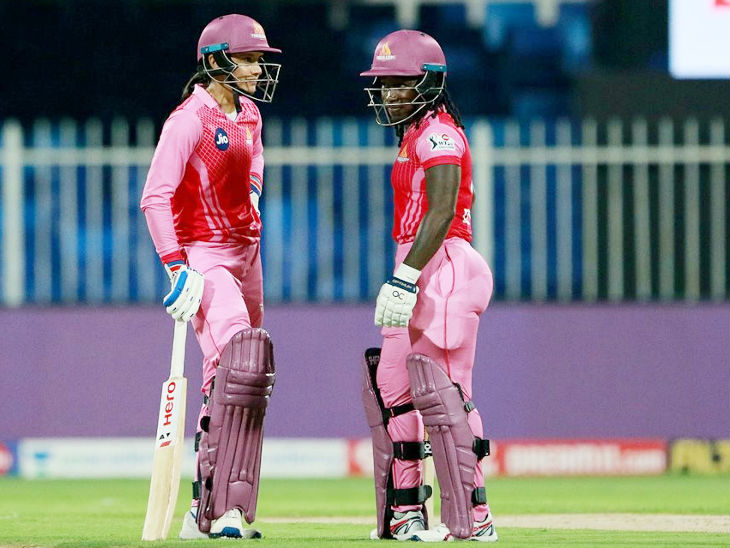 Mandhana and Dotin added 71 runs for the first wicket. Dotin was out for 20 runs.