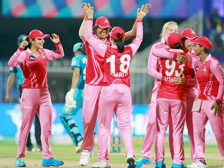 The team of trailblazers after winning the Women's T20 Challenge for the first time.