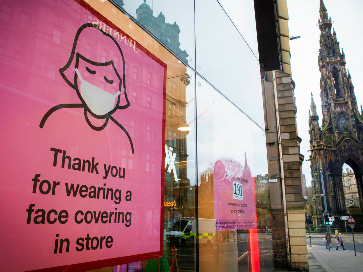 Such boards have been installed in Edinburgh, Scotland. Mask or face coverings have been thanked in this.