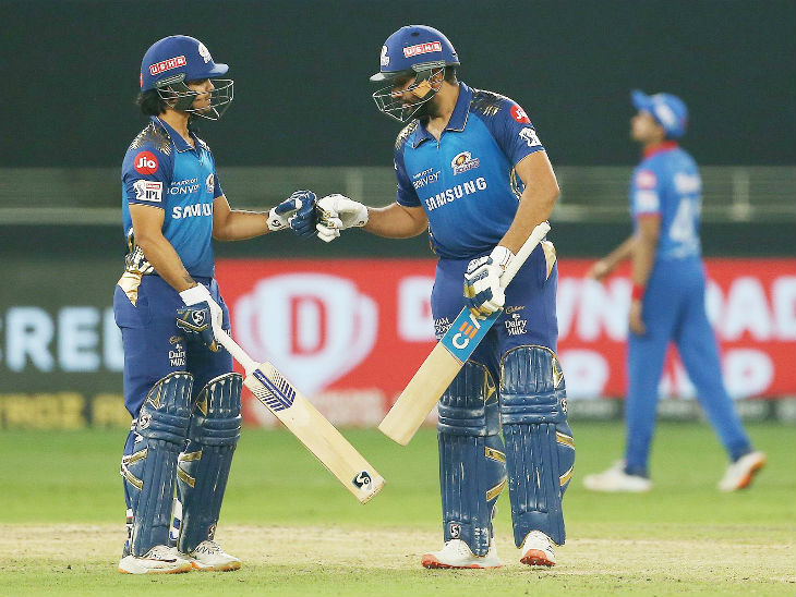 Ishaan Kishan shared a crucial partnership of 47 runs for the third wicket with Rohit.
