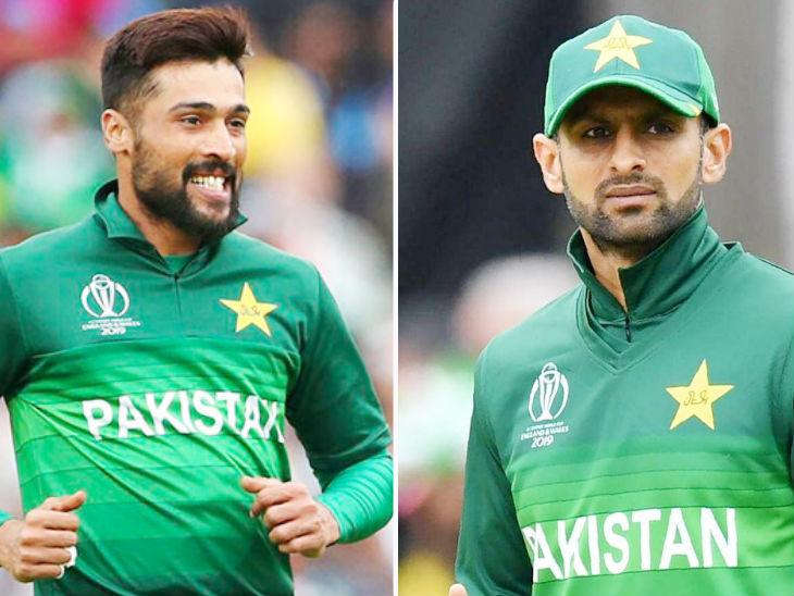 शोएब मलिक और मोहम्मद आमिर को टी-20 टीम से बाहर किया गया। - फाइल फोटो - Dainik Bhaskar